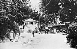 Bramley & Wonersh Station - Signal Box & Crossing Gates - c.1910