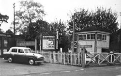 Bramley & Wonersh Station - Signal Box & Crossing Gates - 1965