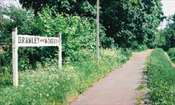 Bramley & Wonersh Station - concrete station sign - 2001