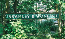 Bramley & Wonersh Station - enamel station sign - 2001