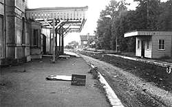 Bramley & Wonersh Station - 1966 - looking North