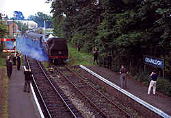 Cranleigh Station - last day of normal service - June 1965
