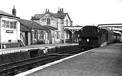 Cranleigh Station looking East - early 1960's