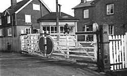 Cranleigh Station Crossing Gates - Early 1960's