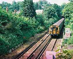 The Portsmouth Line at St. Catherine's Hill in 2001