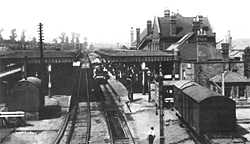 Guildford Station platform 2 & 3 in the late 1800's