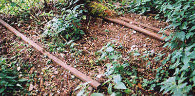 Peasmarsh Junction disgarded rails