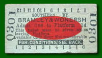 Platform Ticket - Bramley & Wonersh Station