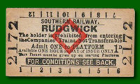Platform Ticket - Rudgwick Station