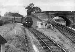 Peasmarsh Junction in the early 1960's - looking South