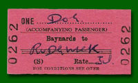 Train Ticket - Baynards to Rudgwick