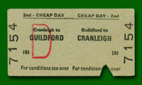 Train Ticket - Guildford to Cranleigh
